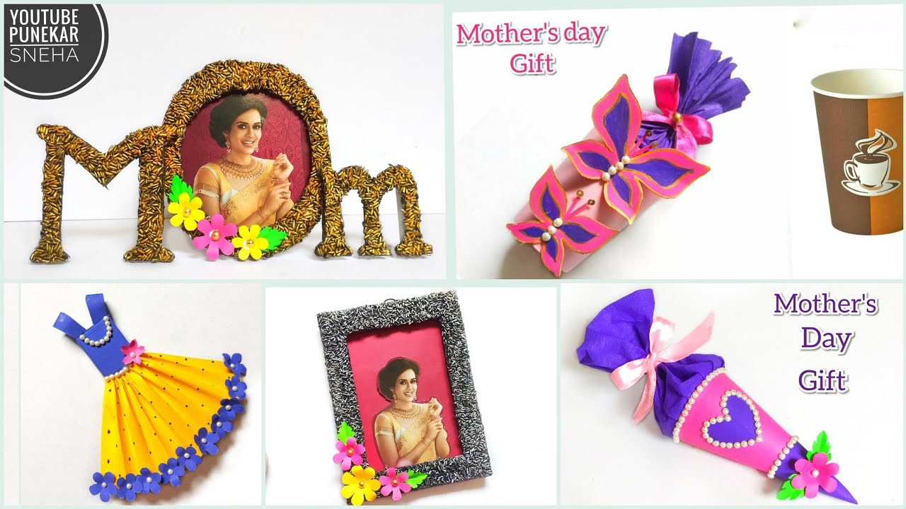 Mother S Day Gift Ideas Lockdown Craft Best Out Of Waste Gift How To Make Newspaper Photo Frame Youtube