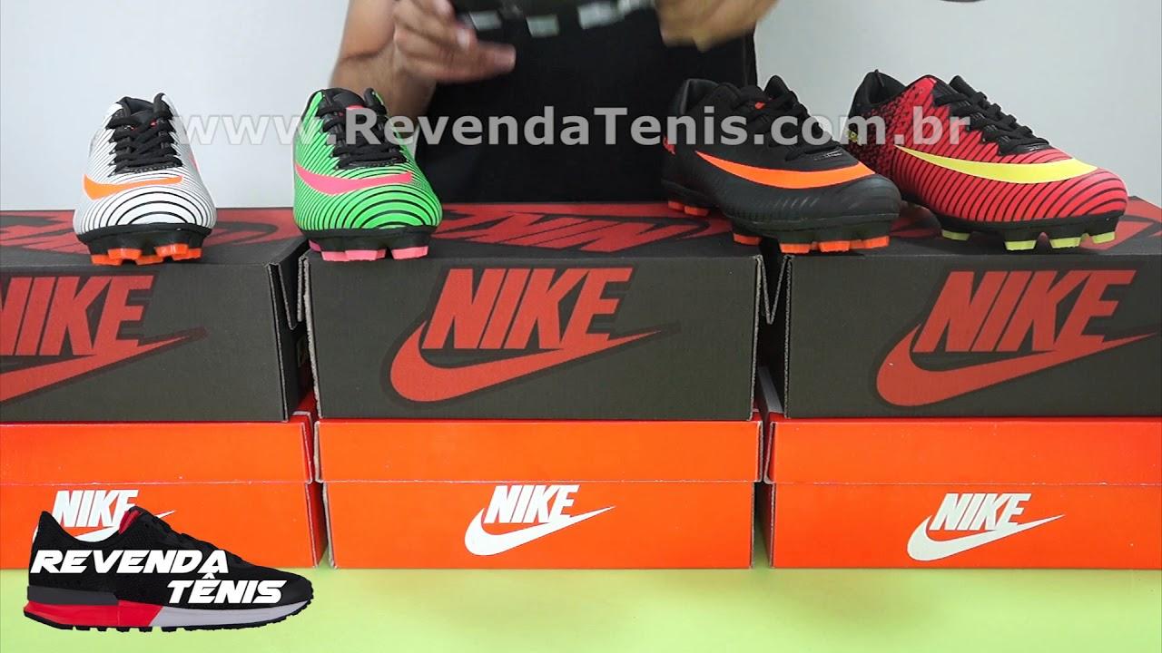 33a2c40c60106 Revenda Tênis- Chuteira Nike Mercurial Vortex 3 Campo - YouTube