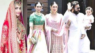 Taimur Ali Khan With Mommy Kareena Dad Saif & Maasi Karisma At Sonam Kapoor & Anand Ahuja's Wedding