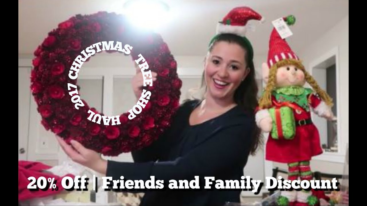 CHRISTMAS TREE SHOP HAUL || 20% OFF COUPON | Christmas Decorations ...