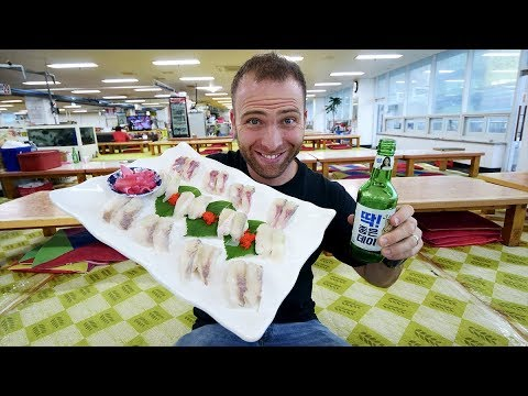 Eating KOREAN SUSHI At The BIGGEST Seafood Market In Korea | Busan, South Korea