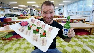 Eating KOREAN SUSHI at The BIGGEST Seafood Market in Korea | Busan, South Korea