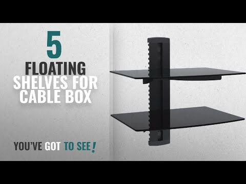 top-10-floating-shelves-for-cable-box-[2018-]:-wali-floating-shelf-with-strengthened-tempered-glass