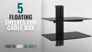 Top 10 Floating Shelves For Cable Box [2018 ]: WALI Floating Shelf with Strengthened Tempered Glass