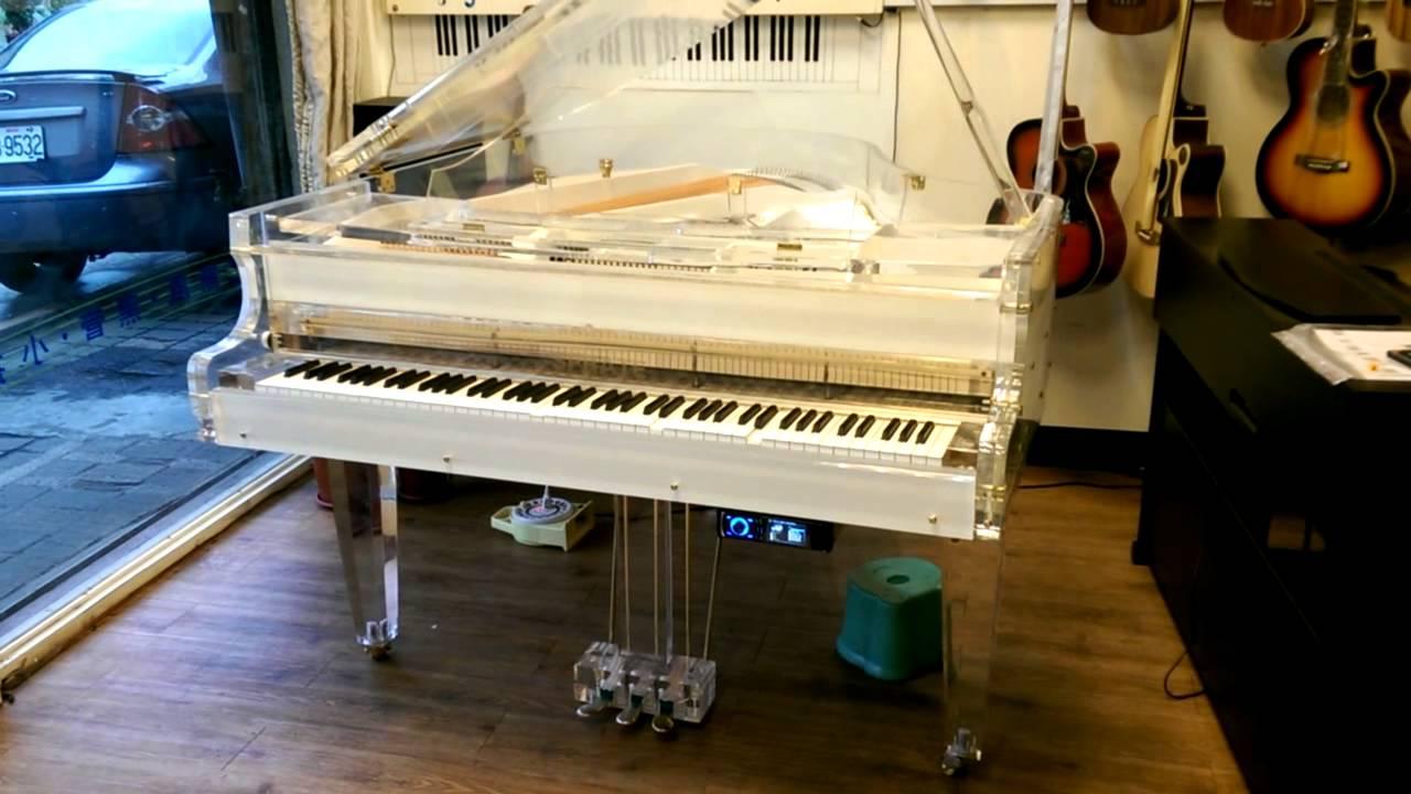 自動演奏水晶鋼琴-現場jazz演奏-德國品牌Sprate透明鋼琴-漢麟樂器140621 - YouTube
