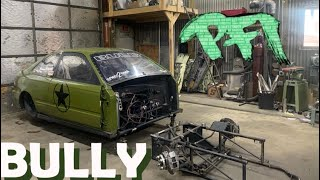 Tube Chassis Civic BULLY, start of a makeover . Srt4 Curse engine assembly.