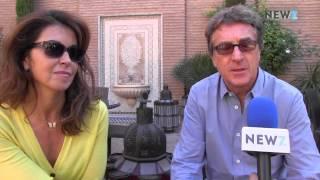 François Cluzet et son épouse Narjiss, inséparables à Marrakech