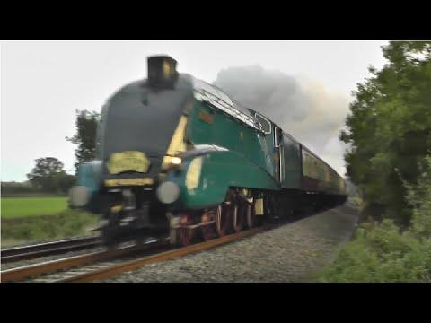 Steam Locomotives At Speed !!