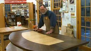 Making A Veneered Executive Desk Part 4-7, Finishing The Top: Andrew Pitts~furnituremaker
