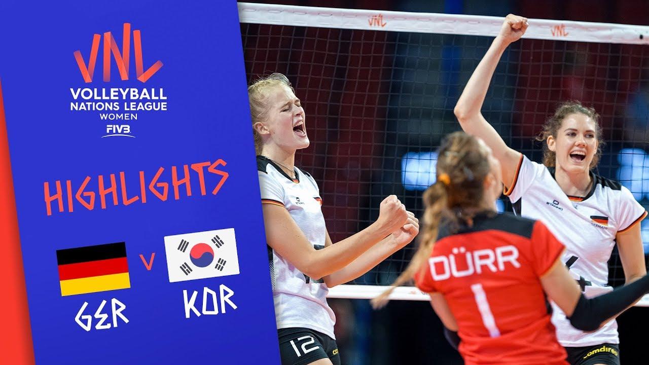 GERMANY vs. KOREA -  Highlights Women | Week 3 | Volleyball Nations League 2019