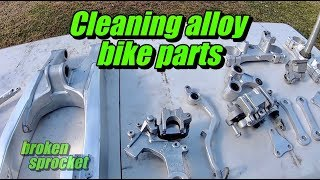 Making aluminum dirt bike parts look new again RM125 build