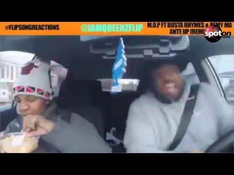 Daddy flippt zu Hip-Hop-Sound im Auto total aus