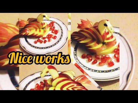 CREATIVE THINKING Swan Made From Apples #swan #apple   изготовление птиц #яблоки Kuğu Yapımı Organic