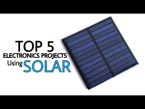 Top 5 electronics projects using solar | solar projects