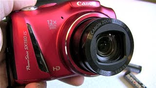 Canon Powershot SX150 IS Camera Review!(Unboxing video here: http://youtu.be/oxevnknVFbk., 2012-10-02T23:03:35.000Z)