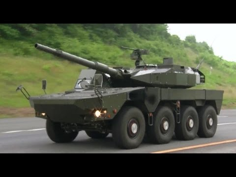 JGSDF - 105mm 8X8 Maneuver Combat Vehicle (MCV) Testing [1080p]