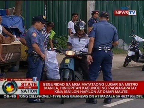 SONA: Seguridad sa mga matataong lugar sa Metro Manila, hinigpitan
