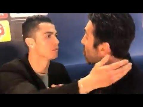 Cristiano Ronaldo KISSES PISSED OFF Gigi Buffon After Dramatic Champions League Finish!