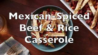 Mexican-Spiced Beef & Rice Casserole