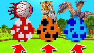 Minecraft PE : DO NOT CHOOSE THE WRONG SPAWN EGG! (Demon Eye, Tiger & Hydra Dragon)