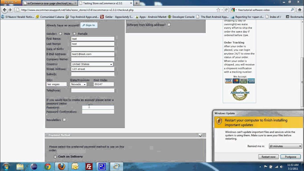oscommerce 2.3.1