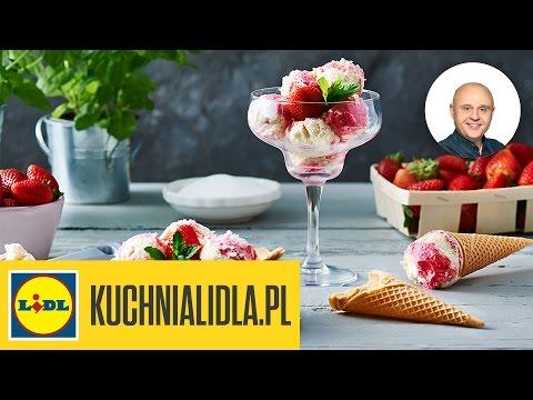 Domowe Lody Waniliowo Truskawkowe Paweł Małecki Przepisy Kuchni Lidla