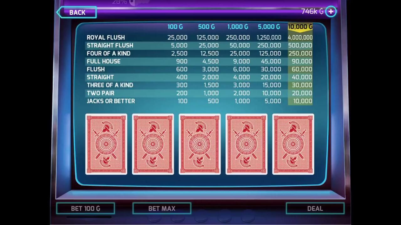 How to win video poker in gangstar vegas