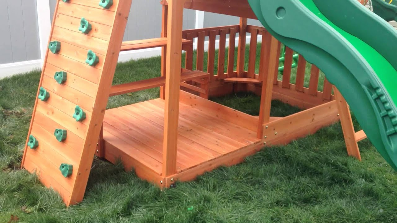 Backyard Discovery Cedar View Swing Set backyard discovery pacific view playset - swing set paradise - youtube