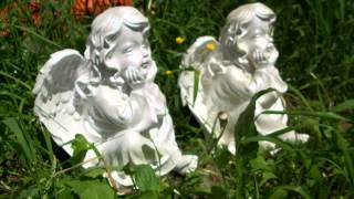 Садовая фигура ангелочка купить для ландшафтного дизайна сада дачного участка дома коттеджа