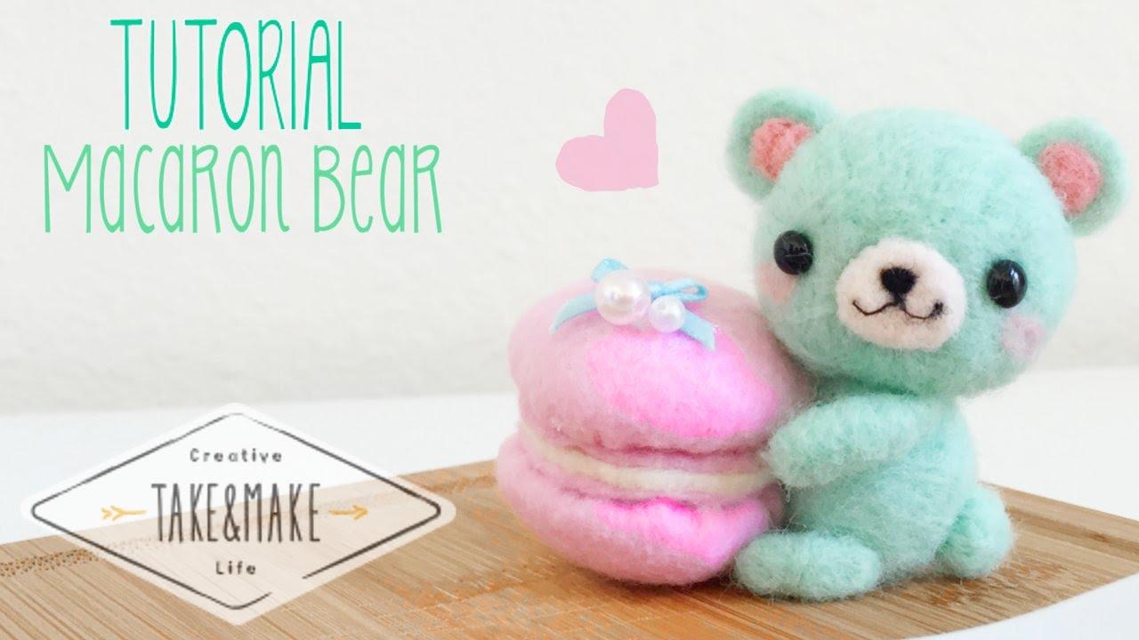 Diy Macaron Bear Plushie W Take Amp Make Co Youtube