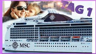 MSC Kreuzfahrt 2016 - MAGNIFICA - ÖSTLICHES MITTELMEER - TAG 1 Schiff Urlaub