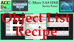C More EA9 HMI Series Panel Object List Recipe