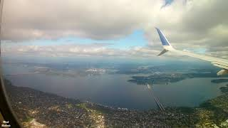 Full Length LANDING into SEATTLE International Airport (Sea-Tac) on our UNITED A320