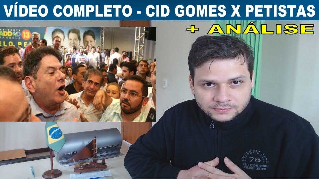 Completo: Irmão do Ciro Gomes detona petistas em comitê do PT. Análise