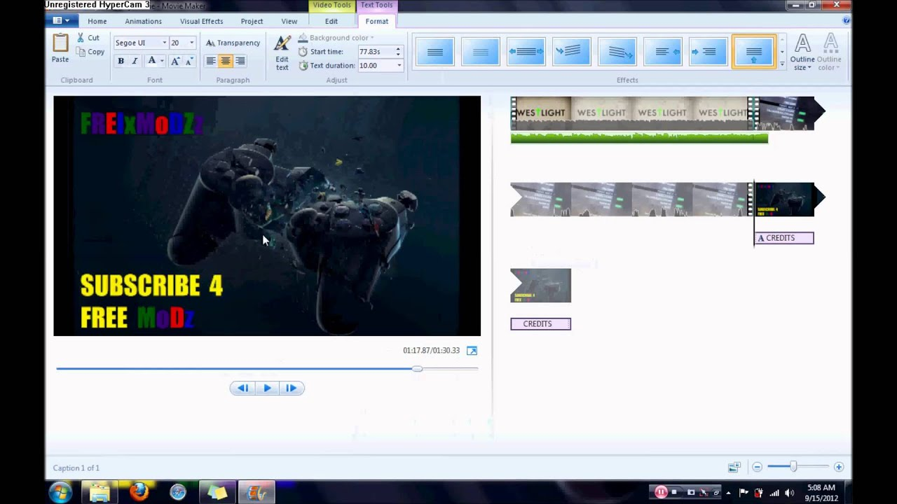 windows live movie maker how to remove audio from video