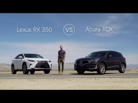 2019 Lexus RX 350 vs 2019 Acura RDX – Video Review Comparison
