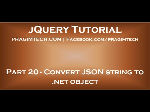 Convert JSON string to  net object