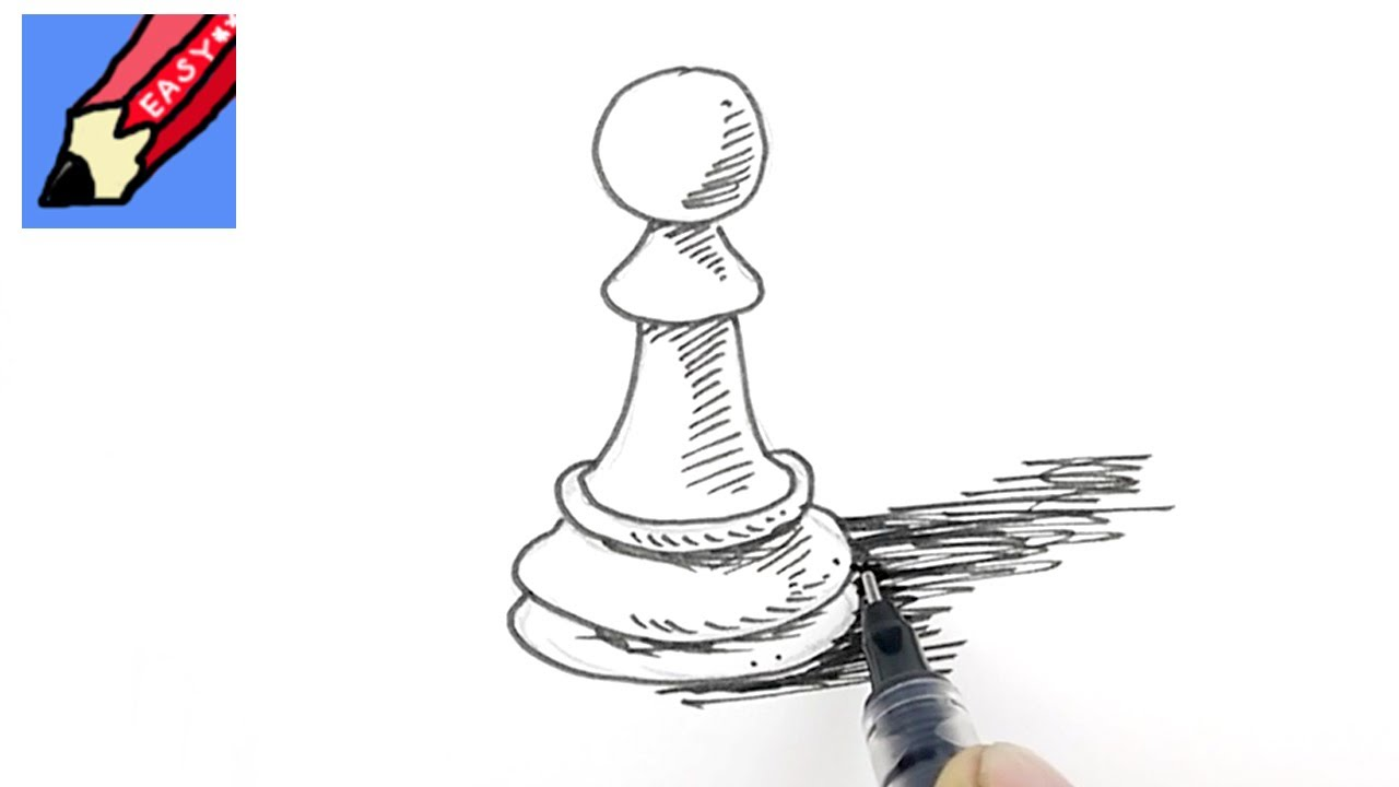 How To Draw A Pawn Real Easy Youtube