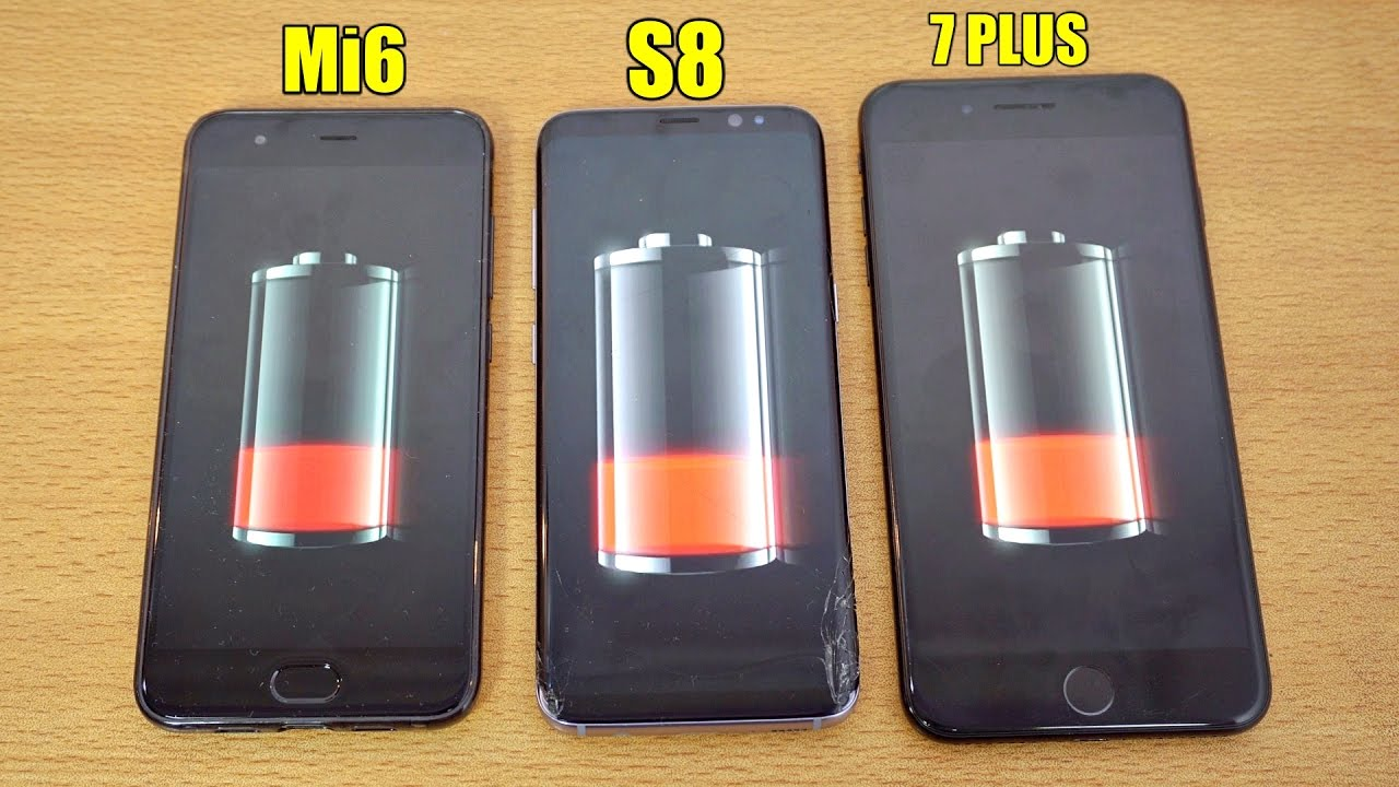 iphone 7 battery drain xiaomi mi6 vs galaxy s8 vs iphone 7 plus battery drain 15152