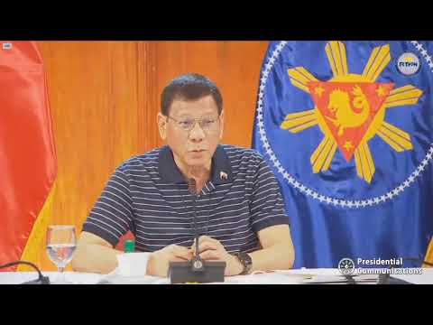 President Duterte addresses the nation   Monday, May 25