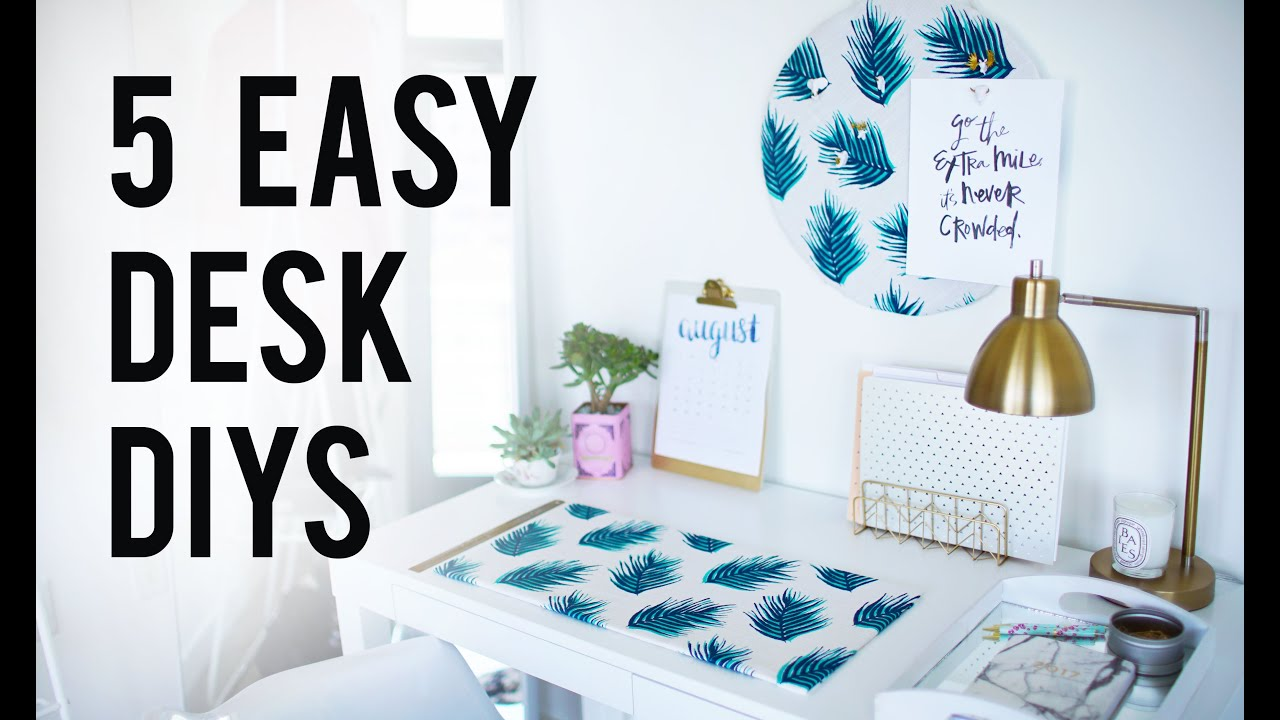 5 Easy Diy Desk Decor Amp Organization Ideas Ann Le Youtube