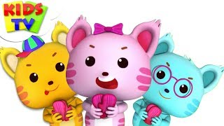 Three Little Kittens   Little Eddie Cartoons   Kindergarten Nursery Rhymes For Children by Kids Tv