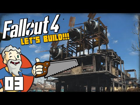 """MY WIND POWERED MANSION!!!"" Fallout 4 LET'S BUILD Part 3 - 1080p HD PC Gameplay Walkthrough"