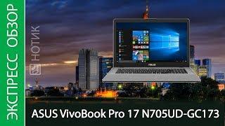 Экспресс-обзор ноутбука ASUS VivoBook Pro 17 N705UD-GC173