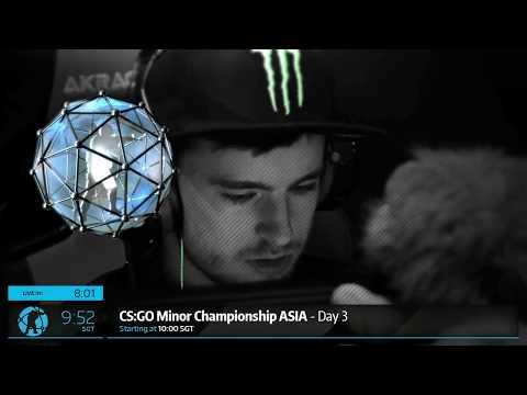 CS:GO Minor Championship Asia Day 3