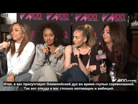 Little Mix - Z100 Interview - The Neon Lights Tour Backstage (03\07\2014) [RusSub]