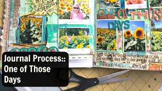 Journal With Me Video:  Junk Journal Process:  Altered Book Journal
