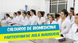 CALOUROS DE BIOMEDICINA PARTICIPAM DE AULA INAUGURAL