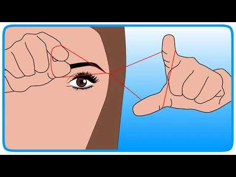 Как выщипать брови ниткой
