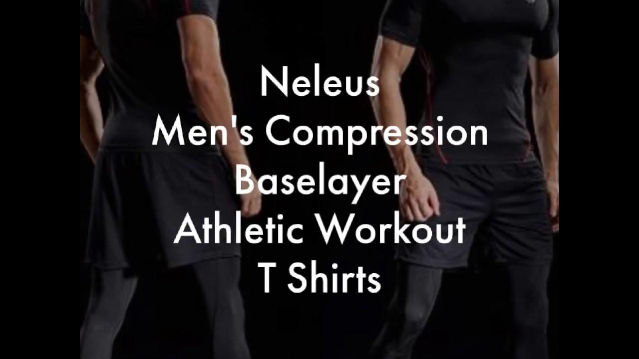 f3cc8fb3e07 Neleus Men s Compression Baselayer Athletic Workout T Shirts - YouTube